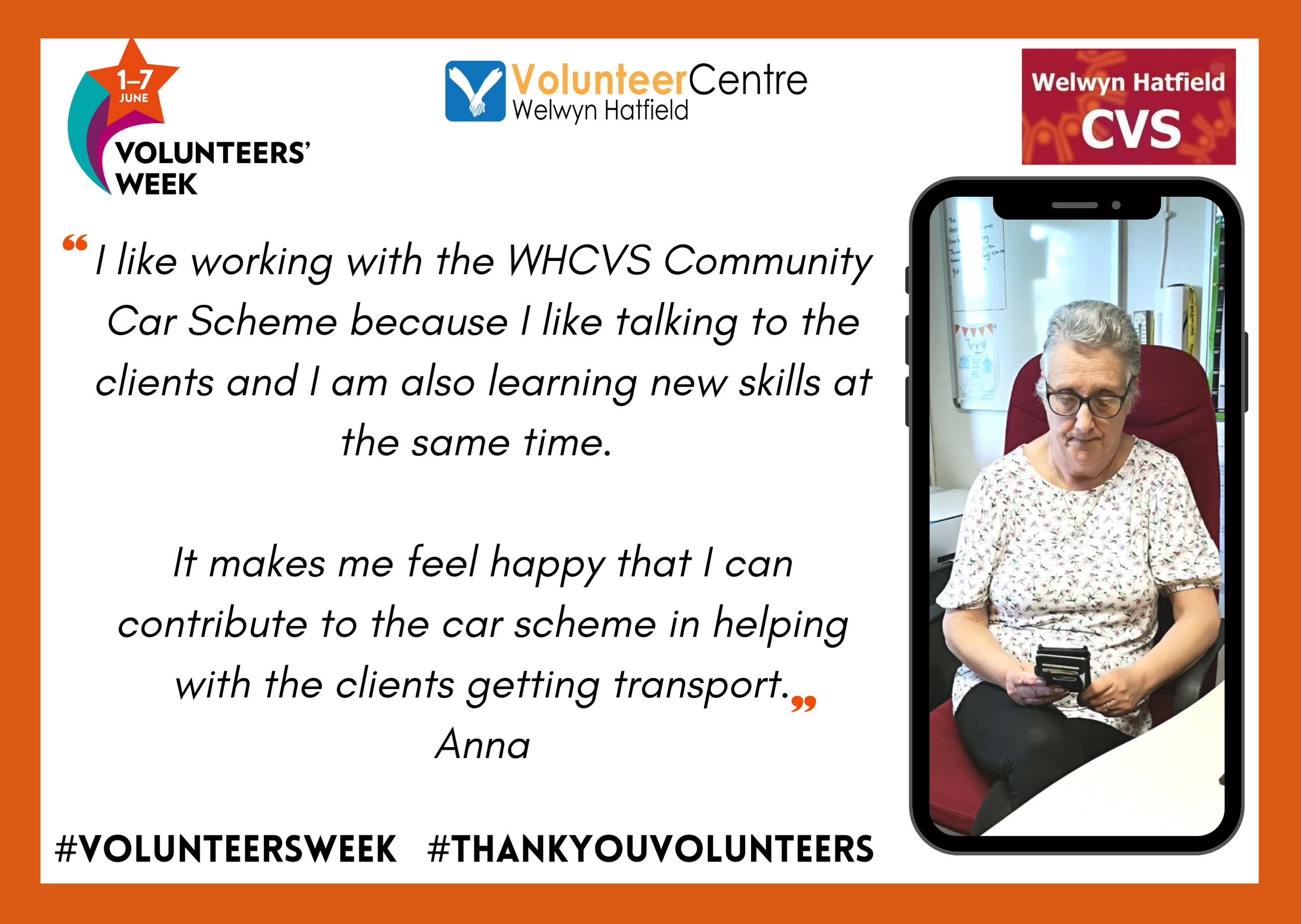 Anna – WHCVS Communit Car Scheme Volunteer