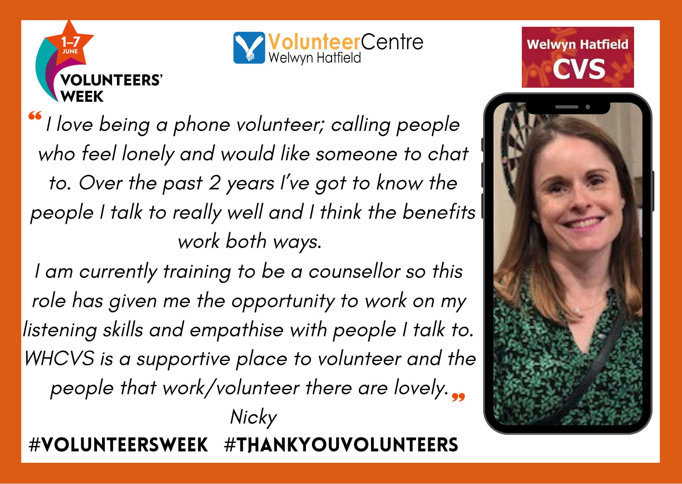 Nicky – WHCVS Let's Chat Volunteer