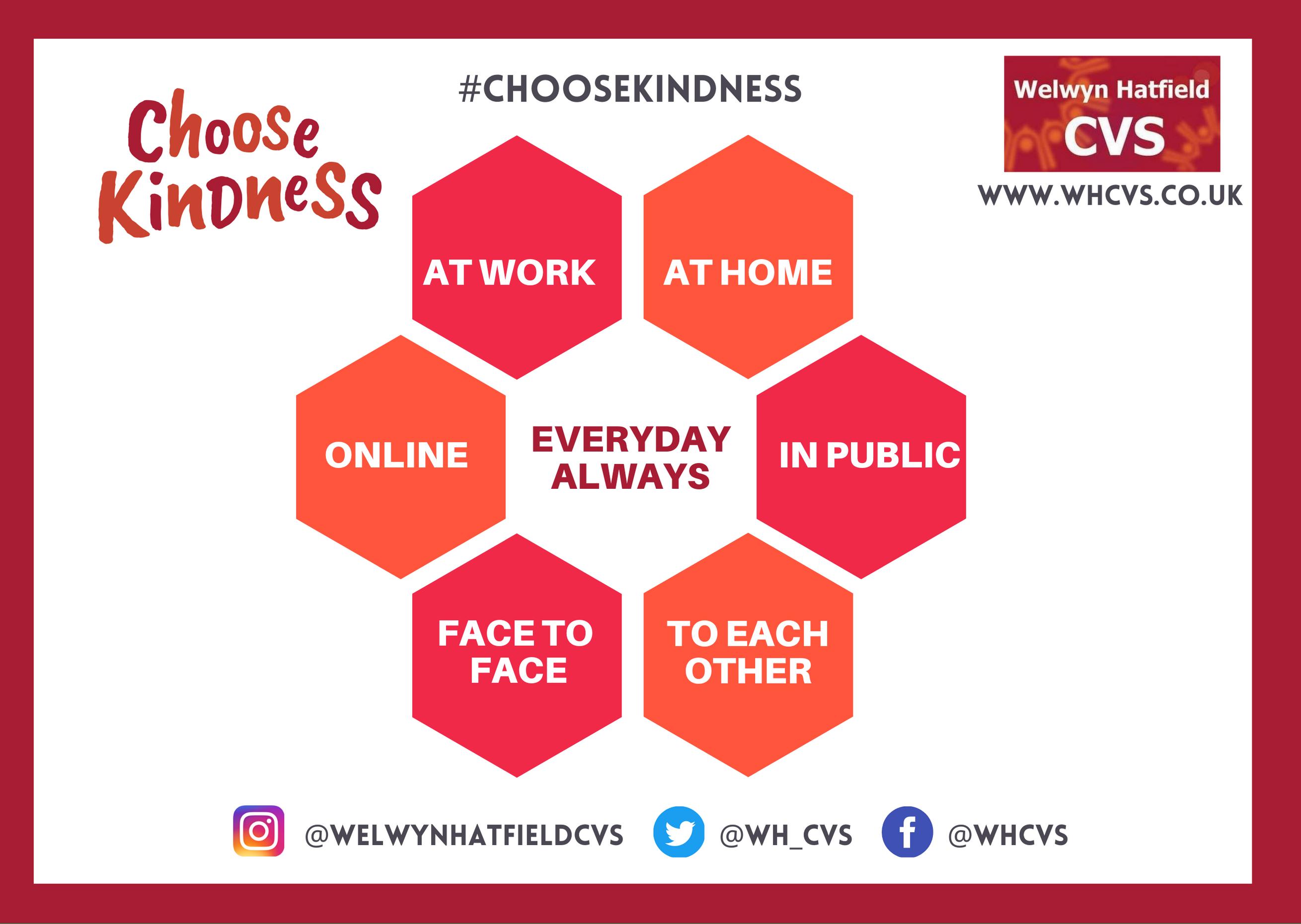 Choose Kindness Post Everyday Always